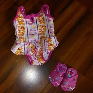 Baby Girl Bathing Suit w/ Sandals